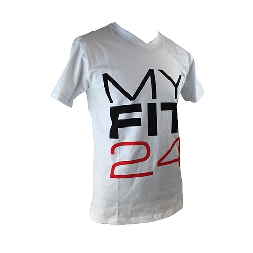 MYFIT24 T-Shirt Slim Men (White)